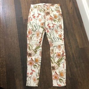 NWT 7 for all mankind floral jeans